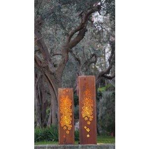 Column iron rust hippic 100cm