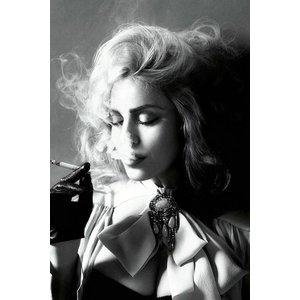 Glass painting 80x120 cm. Smoking Woman