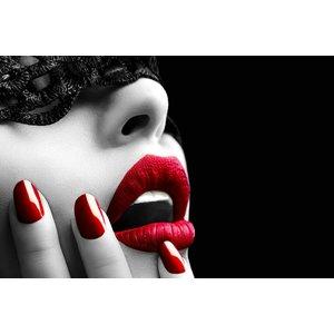 Glasschilderij 120x80 cm. Red Lips