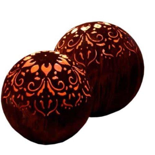 Light bulb iron rust 40cm Mandala
