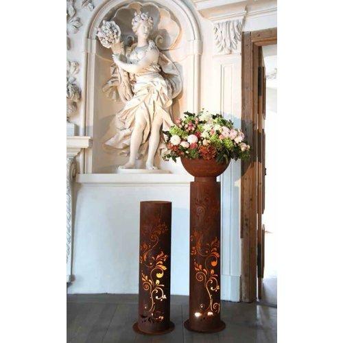 Column iron rust Baroque 120cm