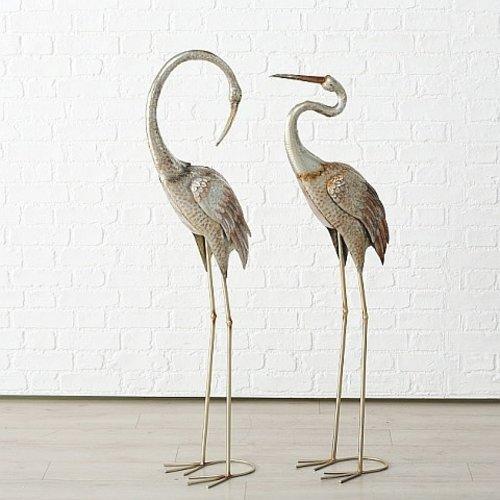 Set metalen kraanvogels 129 cm.
