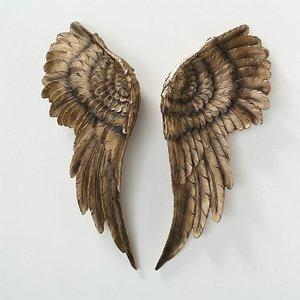 Wanddecoratie engelen vleugels goud
