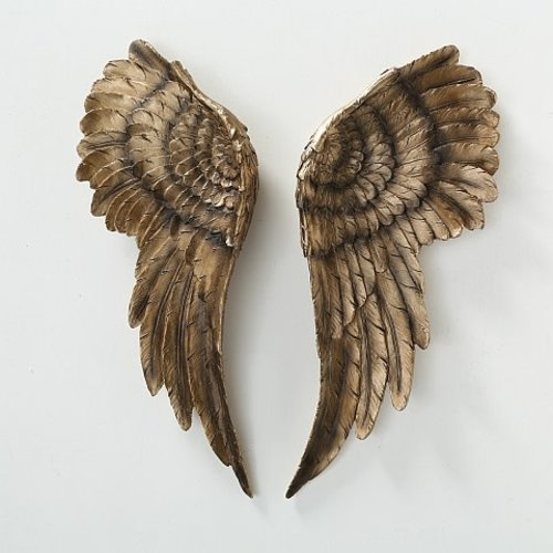 Wall decoration angel wings gold