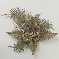 Wanddecoratie bloem met bladeren DALA XL