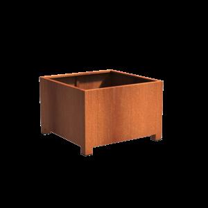 Adezz Producten Pflanzer Corten Stahl Square Andes mit Beinen 120x120x80cm