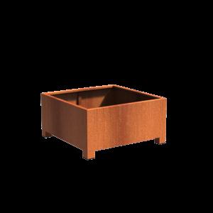 Adezz Producten Pflanzer Corten Stahl Square Andes mit Beinen 120x120x60cm