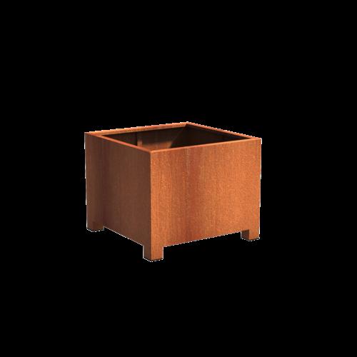 Adezz Producten Plantenbak Cortenstaal Vierkant Andes met poten 100x100x80cm