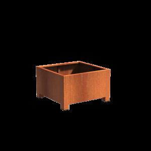 Adezz Producten Plantenbak Cortenstaal Vierkant Andes met poten 100x100x60cm