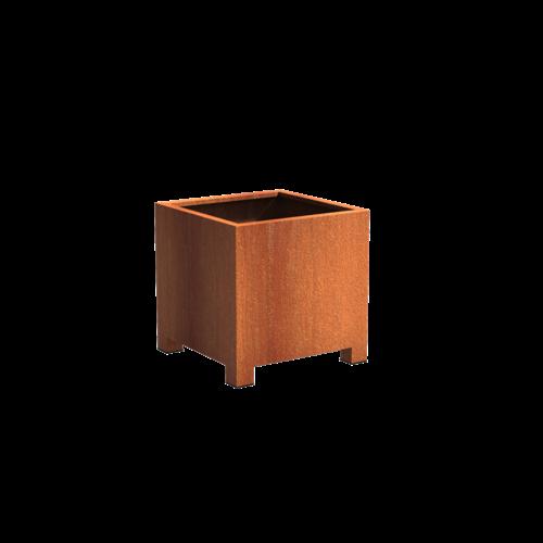 Adezz Producten Plantenbak Cortenstaal Vierkant Andes met poten 80x80x80cm