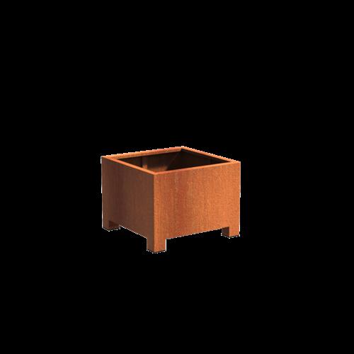 Adezz Producten Plantenbak Cortenstaal Vierkant Andes met poten 80x80x60cm