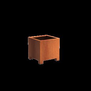 Adezz Producten Planter Corten steel Square Andes with legs 70x70x70cm