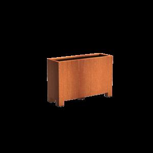 Adezz Producten Pflanzgefäß Corten Stahl Rechteck Anden mit Beinen 120x40x80cm