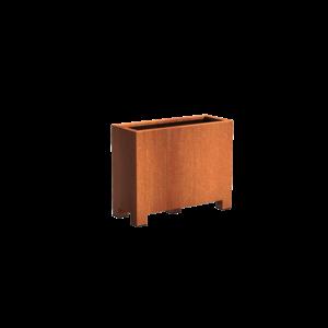 Adezz Producten Pflanzgefäß Corten Stahl Rechteck Anden mit Beinen 100x40x80cm