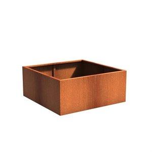 Adezz Producten Pflanzgefäß Corten Stahl Square Andes 140x140x60cm