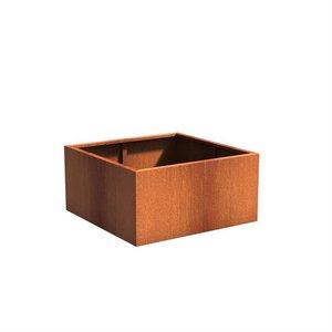 Adezz Producten Pflanzgefäß Corten Stahl Square Andes 120x120x60cm