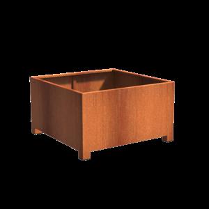 Adezz Producten Pflanzer Corten Stahl Square Andes mit Beinen 140x140x80cm