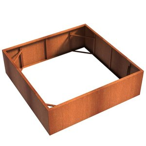 Adezz Producten Planter Corten steel Square Andes without bottom 200x200x60cm