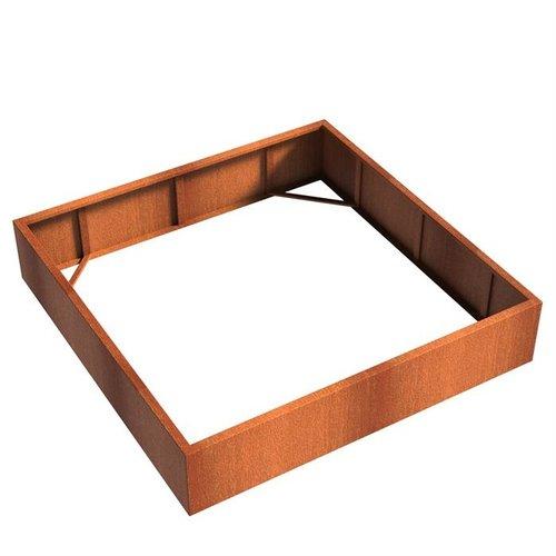 Adezz Producten Pflanzer Corten Stahl Square Andes ohne Boden 200x200x40cm