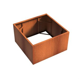 Adezz Producten Planter Corten steel Square Andes without bottom 140x140x80cm