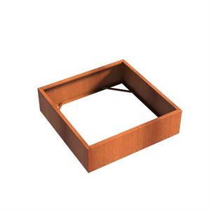 Adezz Producten Planter Corten steel Square Andes without bottom 140x140x40cm