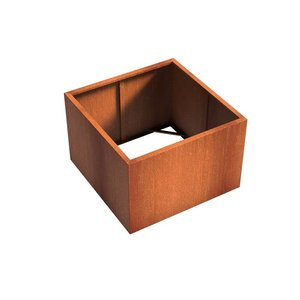Adezz Producten Planter Corten steel Square Andes without bottom 120x120x80cm