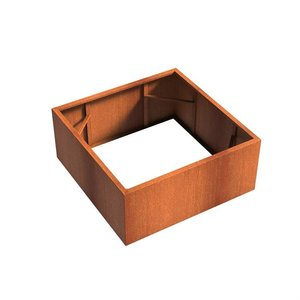 Adezz Producten Planter Corten steel Square Andes without bottom 140x140x60cm