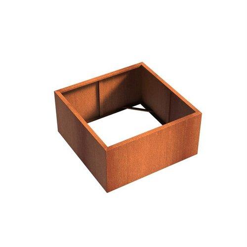 Adezz Producten Pflanzer Corten Stahl Square Andes ohne Boden 120x120x60cm