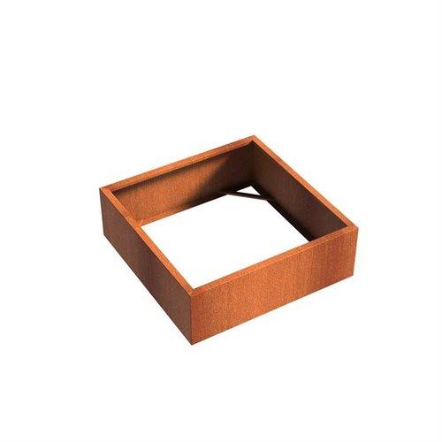 Adezz Producten Pflanzer Corten Stahl Square Andes ohne Boden 120x120x40cm