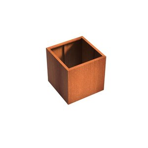Adezz Producten Planter Corten steel Square Andes without bottom 80x80x80cm