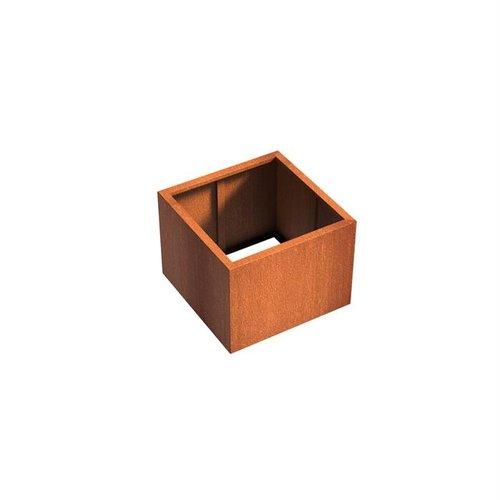 Adezz Producten Pflanzer Corten Stahl Square Andes ohne Boden 80x80x60cm