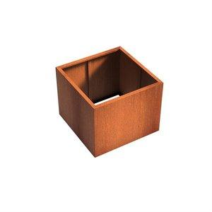 Adezz Producten Plantenbak Cortenstaal Vierkant Andes zonder bodem 100x100x80cm