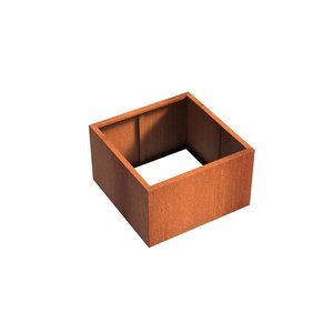 Adezz Producten Planter Corten steel Square Andes without bottom 100x100x60cm
