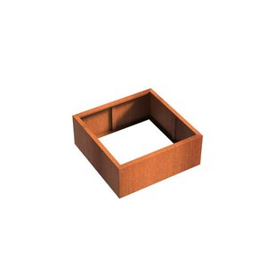 Adezz Producten Planter Corten steel Square Andes without bottom 100x100x40cm