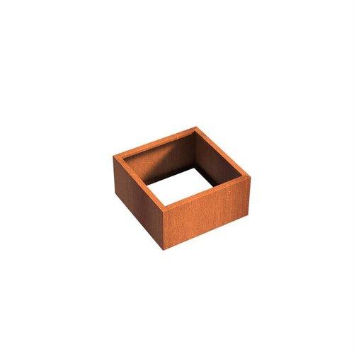Adezz Producten Pflanzer Corten Stahl Square Andes ohne Boden 80x80x40cm