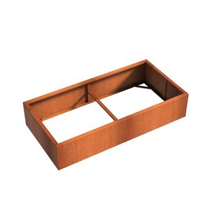 Adezz Producten Planter Corten steel Rectangle Andes without bottom 200x100x40cm