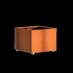 Adezz Producten Pflanzer Corten Stahl Square Andes mit Rädern 80x80x60