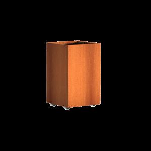 Adezz Producten Pflanzer Corten Stahl Square Andes mit Rädern 50x50x80