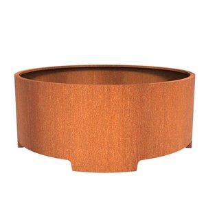 Adezz Producten Planter Corten steel Round Atlas with legs 200x80cm
