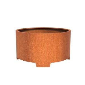 Adezz Producten Pflanzer Corten Stahl Runder Atlas mit Beinen 150x80cm