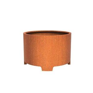 Adezz Producten Pflanzer Corten Stahl Runder Atlas mit Beinen 120x80cm