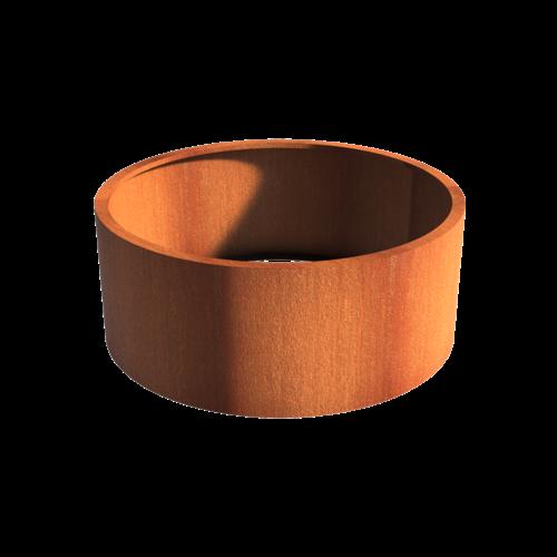 Adezz Producten Pflanzer Corten Stahl Rundatlas ohne Boden 150x60