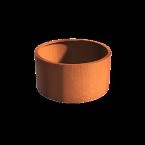 Adezz Producten Pflanzer Corten Stahl Rundatlas ohne Boden 120x60
