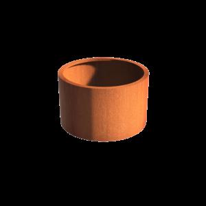 Adezz Producten Planter Corten steel Round Atlas without bottom 100x60
