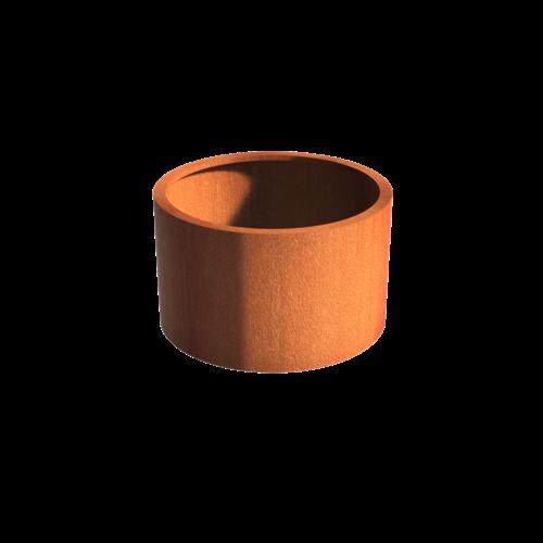 Adezz Producten Pflanzer Corten Stahl Rundatlas ohne Boden 100x60