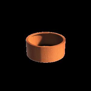 Adezz Producten Planter Corten steel Round Atlas without bottom 100x40