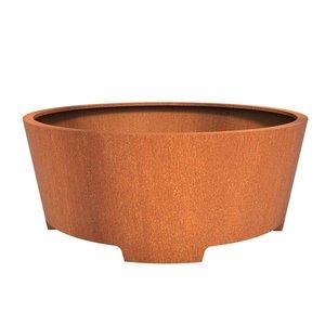 Adezz Producten Plantenbak Cortenstaal Rond Cado met poten 200x80cm