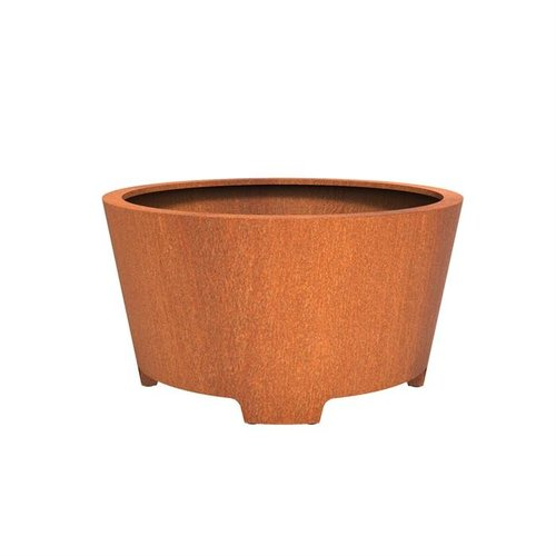 Adezz Producten Pflanzer Corten Stahl Round Cado mit Beinen 150x80