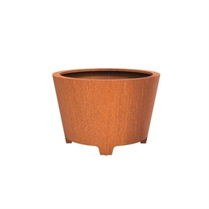Adezz Producten Planter Corten steel Round Cado with legs 120x80