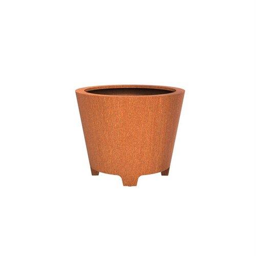 Adezz Producten Pflanzgefäß Cortenstahl Rund Cado mit Beinen 100x80cm